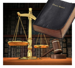 scales of justice and the bible